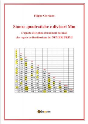 Stanze quadratiche e divisori Mm, la disciplina dei numeri naturali che regola la distribuzione dei numeri primi by Filippo Giordano