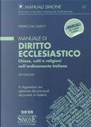 Manuale di diritto ecclesiastico. Chiese, culti e religioni nell'ordinamento italiano by Federico Del Giudice