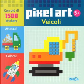 Veicoli. Pixel art. Con stickers